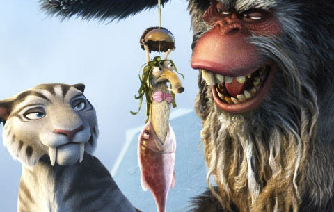 Scrat being responsible of subdividing land masses into seven    Ice Age Continental Drift Shira