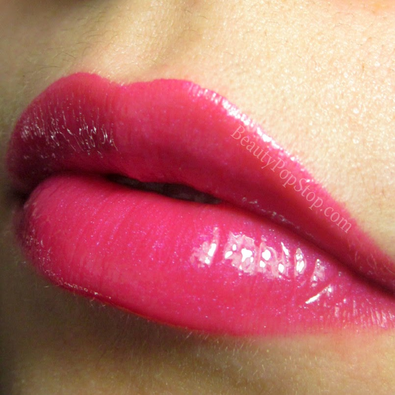 mac pink poodle by request lipglass over pink poodle lipstick swatch and review