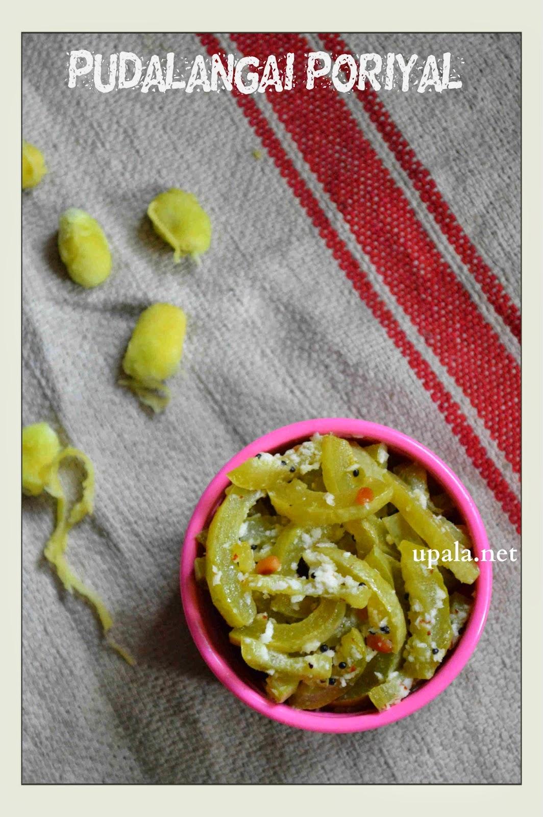 snake gourd stir fry/pudalangai poriyal