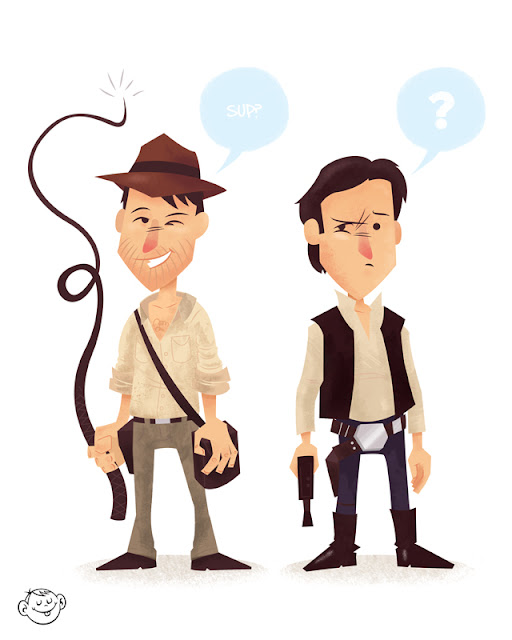 Indiana jones och Han Solo, Harrison Ford