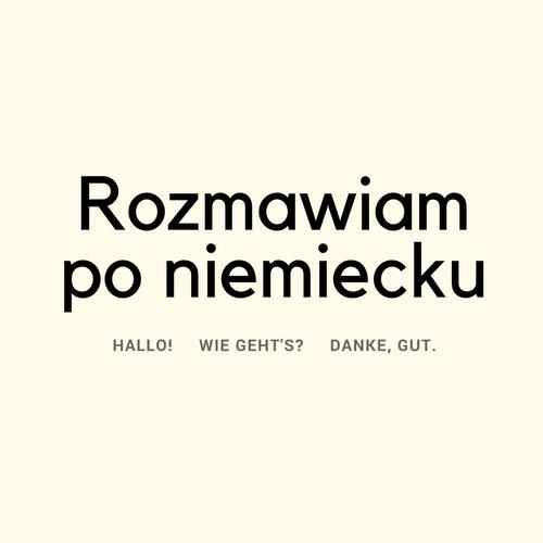 Rozmawiam po niemiecku