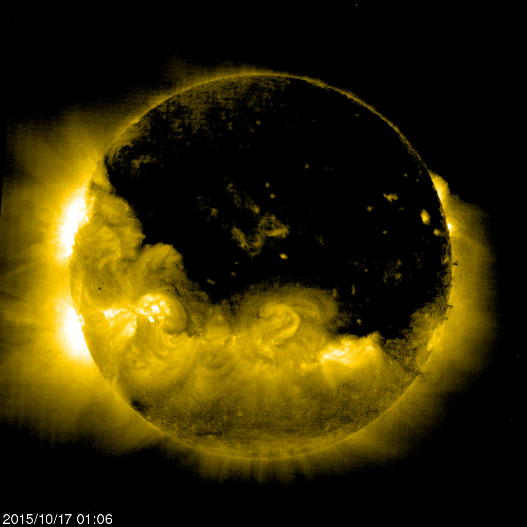 IT IS TIME, THE SUN IS DARKENING! Coronal Hole Covering ...