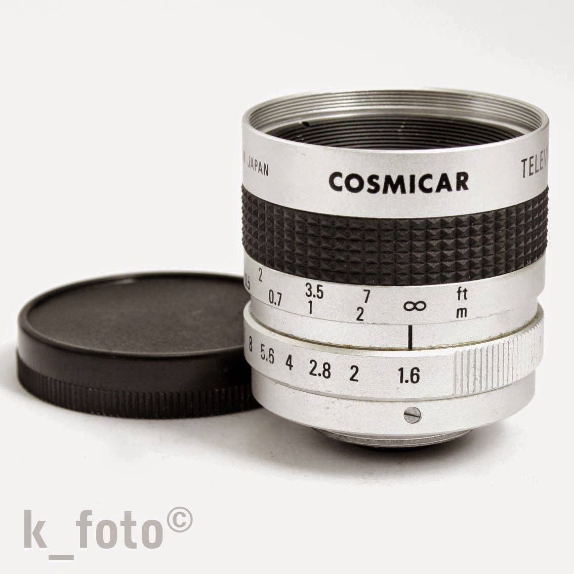 c-mount: Cosmicar Television Lens 1,6 / 16 mm