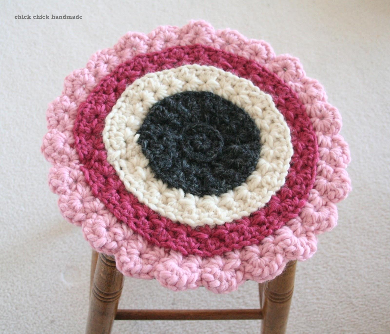 chick chick sewing: Crochet star stitches seat cushion