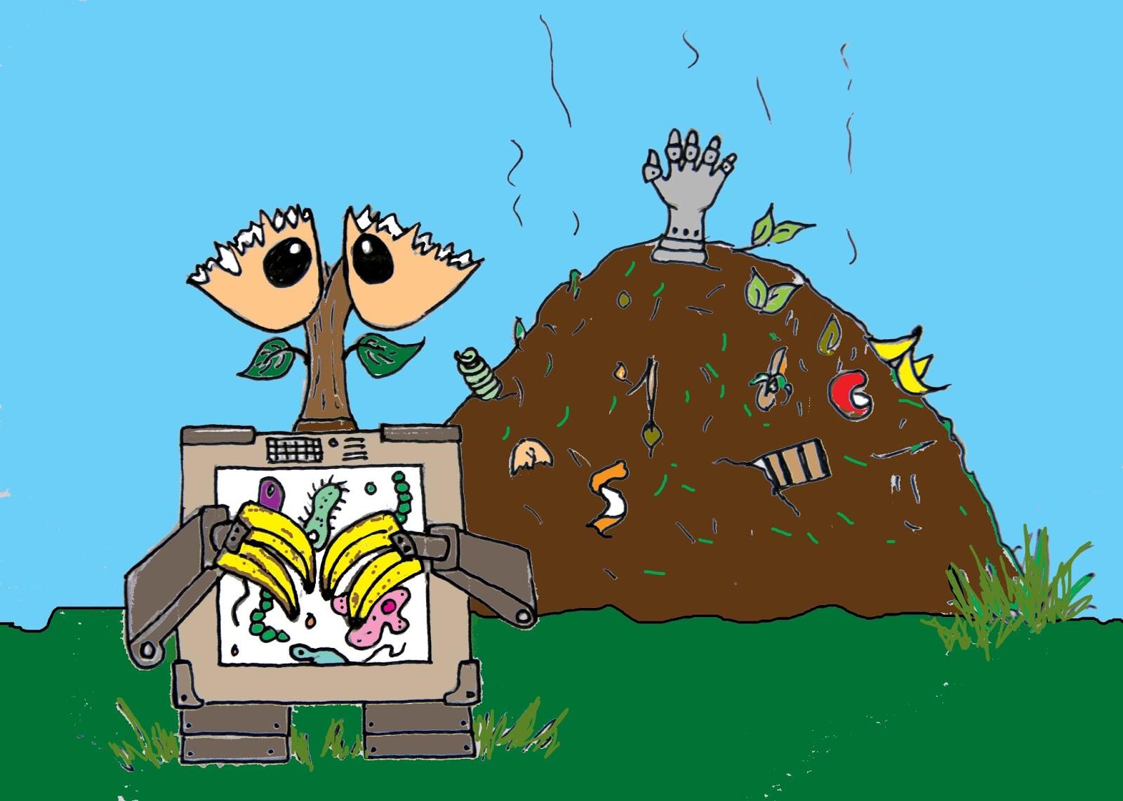 Ro-botany: rotting robots in the garden