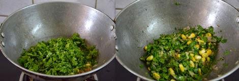 Corn Spinach Sandwich recipe-steps
