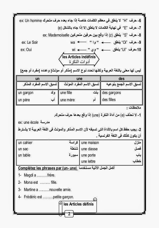 قواعد و أساسيات نطق الفرنسية لطلاب اللغات والحكومى مشروح عربى 10444639_10152811799