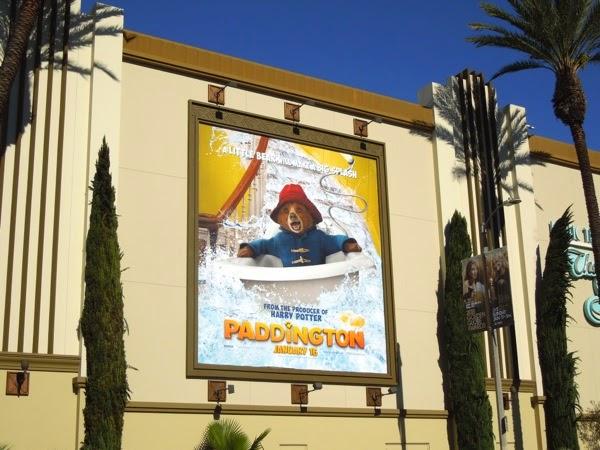 Paddington movie billboard