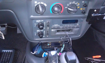 mp3 player connected to car stereo through tape cassette deck