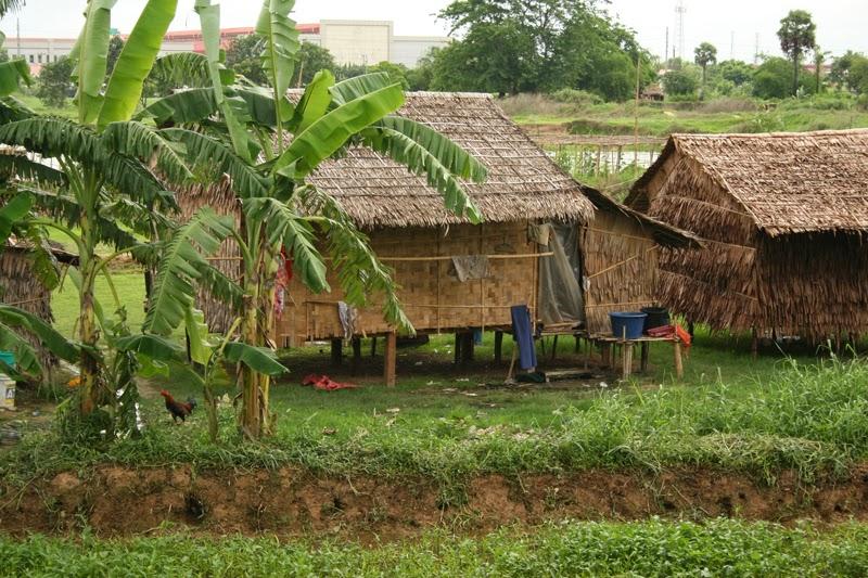 Shacks in the North Yangon suburbs