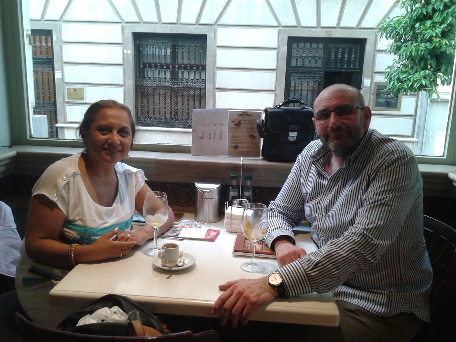 En Granada con el poeta granadino Miguel Ángel Contreras