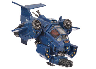 Ultramarines Stormtalon Gunship with Skyhamer Missile Launcher