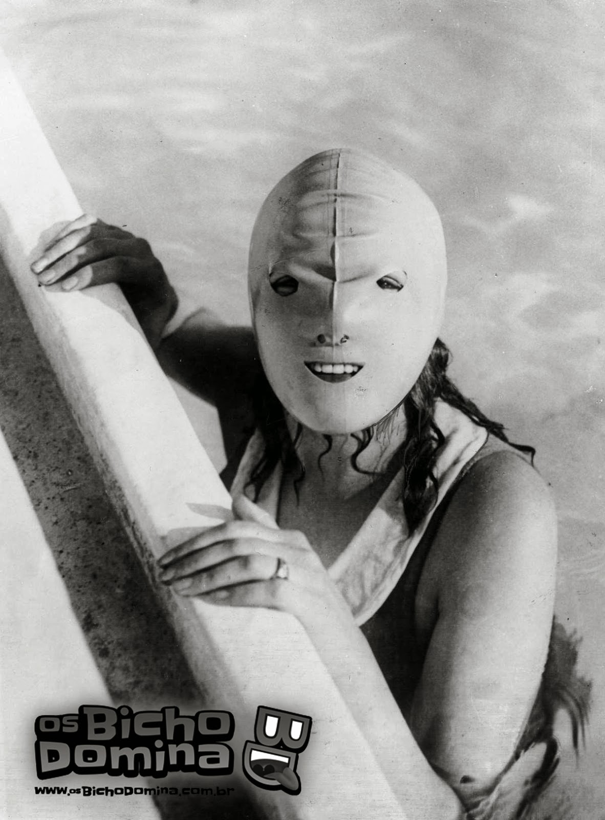 Máscara Facial de natação de 1928