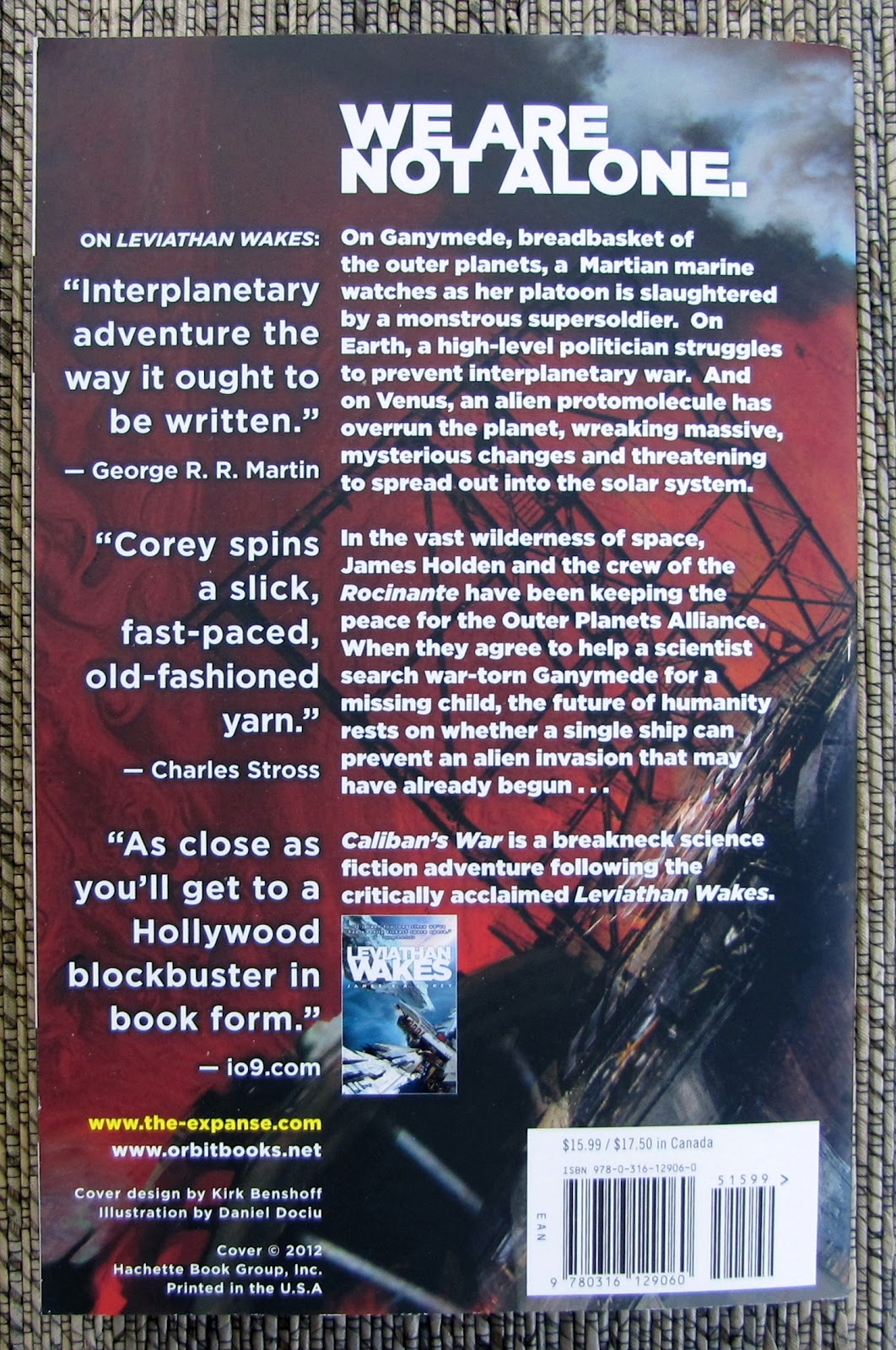 Caliban's War By James S A Corey (actually The Pen Name Of Authors Daniel  Abraham And Ty Franck) Is The Second Book In Their