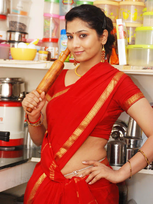 liya sree new red saree hot images
