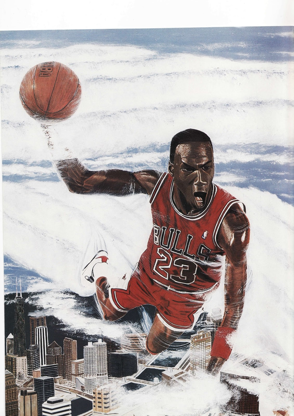 Michael Jordan painting from Beckett Basketball Monthly
