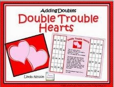 http://www.teacherspayteachers.com/Product/Double-Trouble-Hearts-Addition-Doubles-Facts-198320