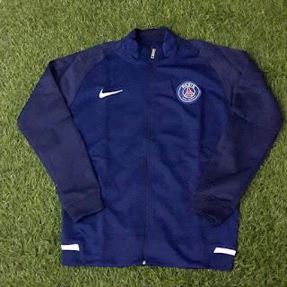 GAMABR desain terbaru musim depan jaket bola Jaket PSG home warna biru navy terbaru musim 2015/2016 kualitas grade ori di enkosa sport