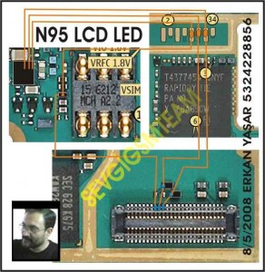 celpapa: Nokia N95 Lcd Display Led Lights Problem jumper solution