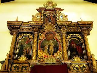 Retábulo jesuíta da Igreja de Santiago, no Paraguai.