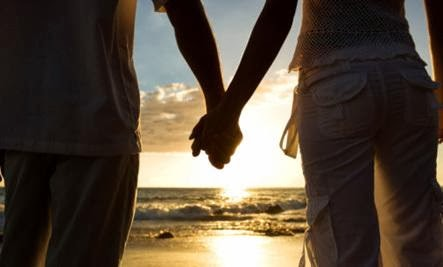 two lovers man woman holding hands sunset sea beach romantic wallpaper - 20:20 Vision for Love