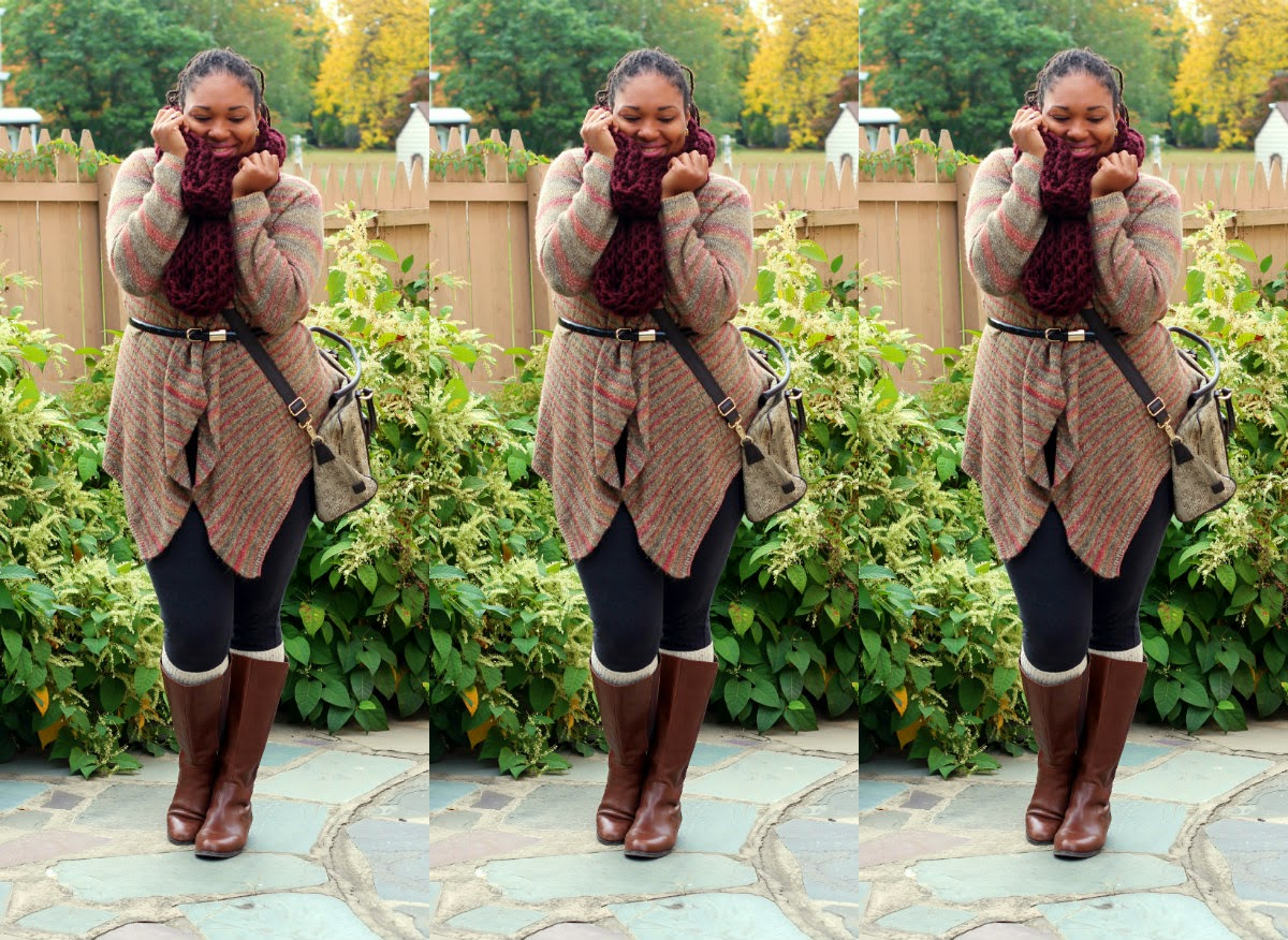 plus size fall sweaters, rafaella sweater, lane bryant boots