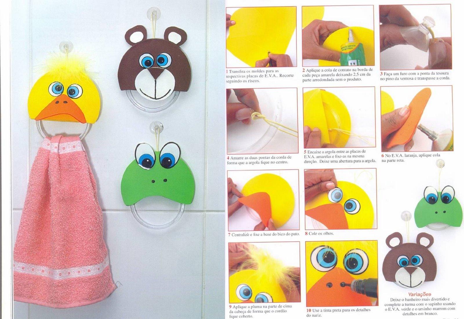 El arte de educar porta toallas con goma eva - Con goma eva ...
