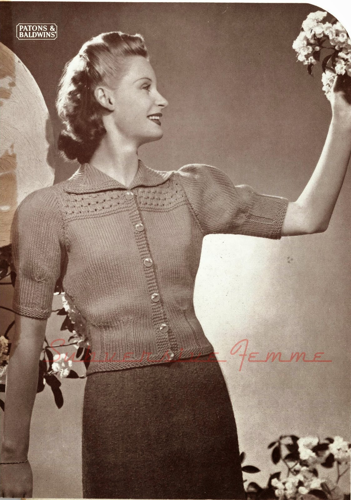 free vintage knitting patterns 1930s cardigan 30s 32