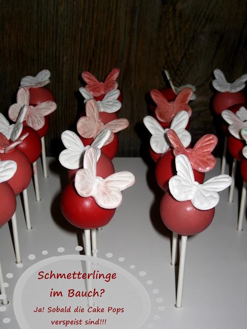 butterfly-Cake Pops, Frühling, Geburtstag,
