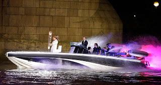 David Beckham en la ceremonia inaugural de los Juegos