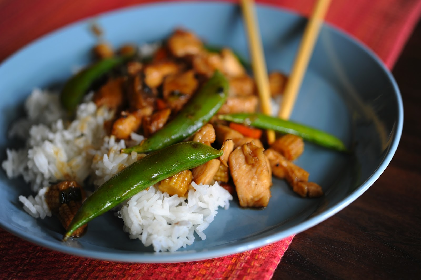 mama makes from scratch: moo goo gai pan, with children