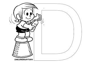 Texto Infantil Turma da Mônica Letra D