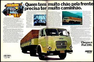 propaganda caminhão Fiat 190 - 1977; Fiat diesel; trucks; brazilian cars; reclame de carros anos 70. brazilian advertising cars in the 70. os anos 70. história da década de 70; Brazil in the 70s; propaganda carros anos 70; Oswaldo Hernandez;