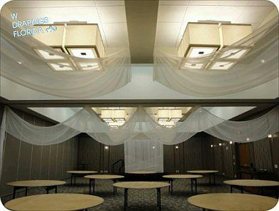 Decoraci n de bodas techos interiores 2 - Telas para techos ...