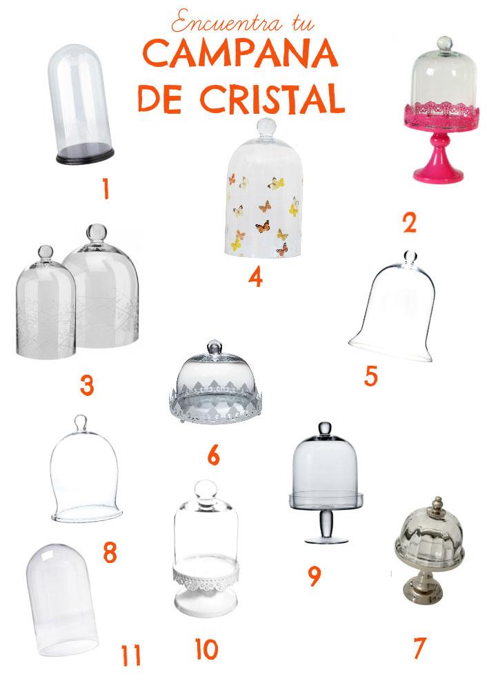 Tendencias decoraci n con campanas de cristal floritismo - Campana de cristal ikea ...