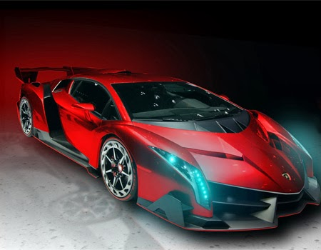 Top Red Lamborghini Veneno Roadster Rilis