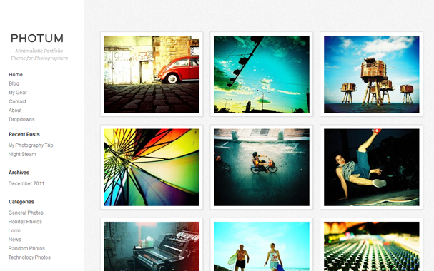 photography wordpress theme 30 Ücretli Ücretsiz WordPress Teması