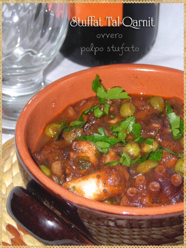 Stuffat Tal-Qarnit  polpo stufato ricetta di Malta