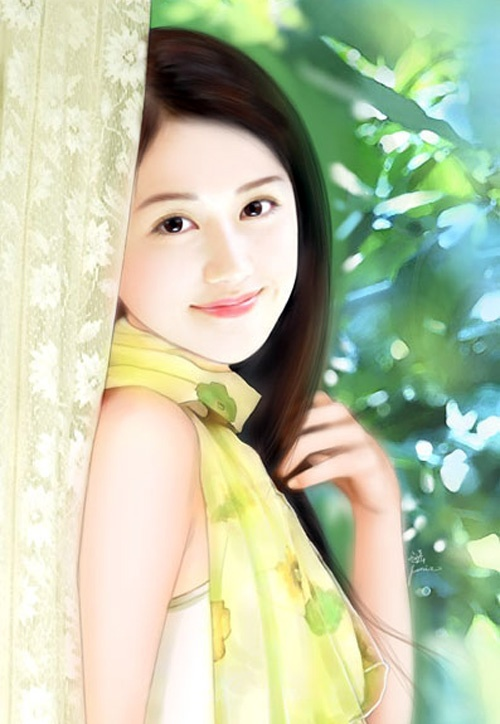 Hot Bollywood Scandals Chines Beautiful Girls Painting
