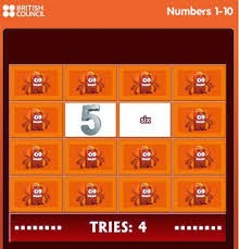 http://learnenglishkids.britishcouncil.org/es/word-games/find-the-pairs/numbers-1-10