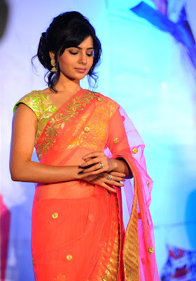 Samantha at jabardasth audio launch in saree