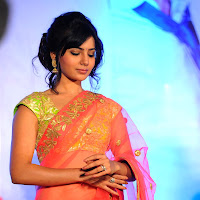 Samantha at jabardasth audio launch in saree