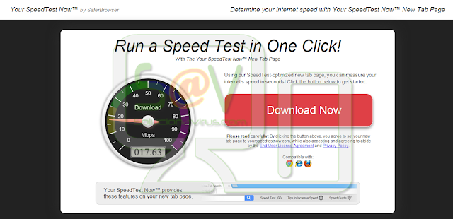 Your SpeedTest Now or YourSpeedTestNow - Virus