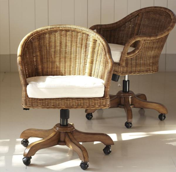 Charming wingate rattan swivel desk chair source information for Swivel chairs for office