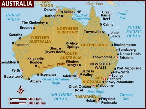 IMAGES HD: Map Of Australia