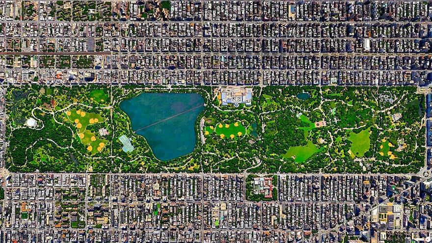 fotos de ciudades desde satelites
