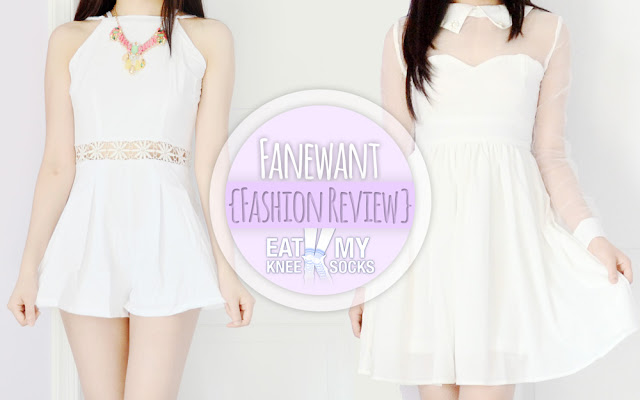 Eat My Knee Socks/Mimchikimchi's Fanewant fashion review, featuring a white crochet romper and sheer dress from nicedress.storenvy.com.