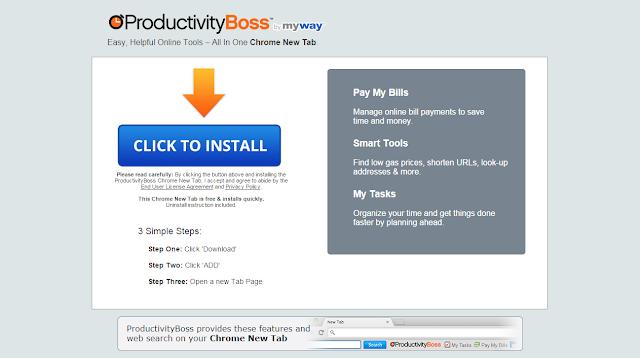 Productivity Boss Toolbar