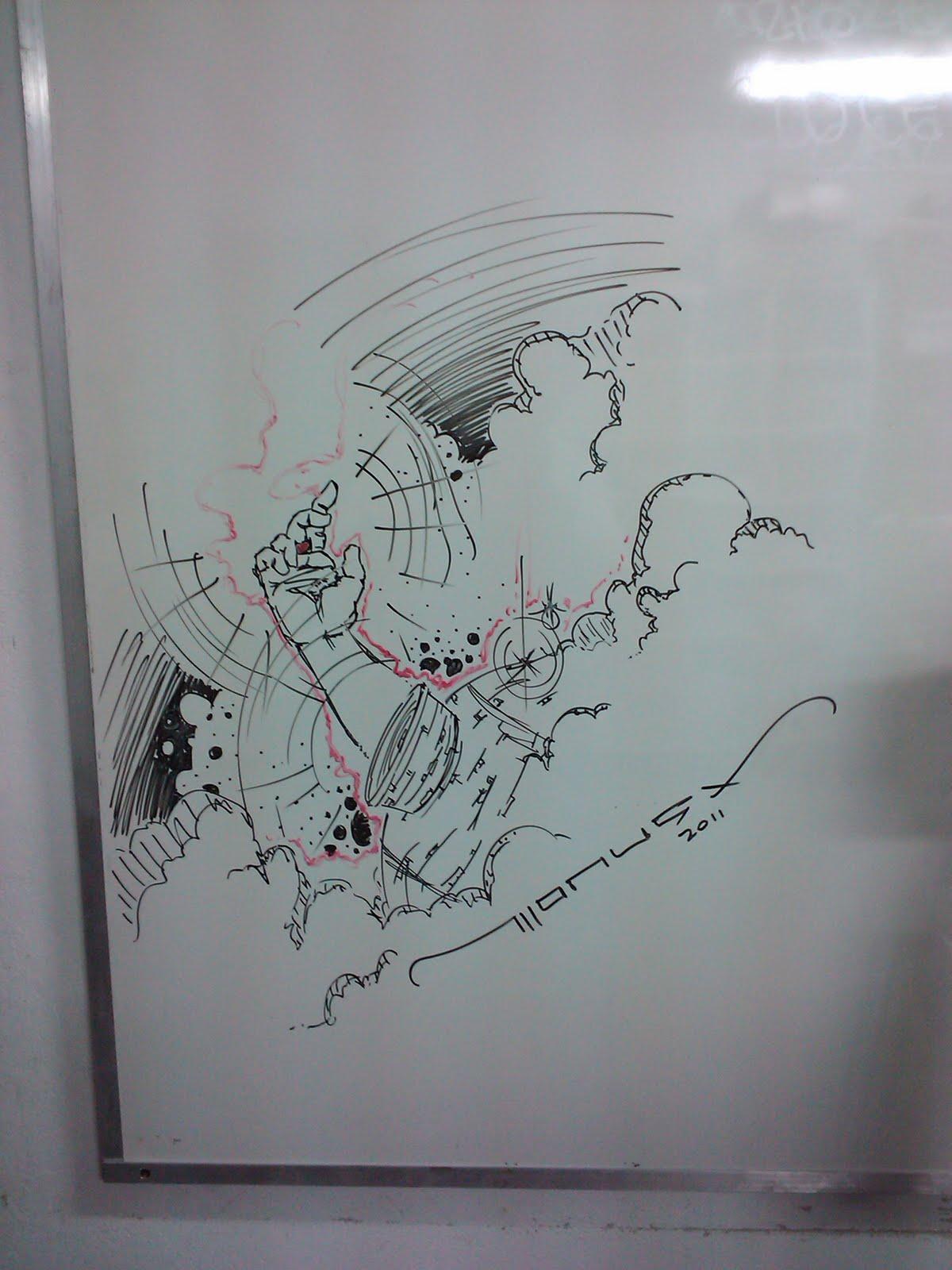 Dibujos comics e ilustraci nes pizarra blanca - Pintura de pizarra para pared ...