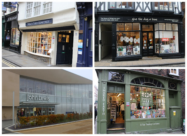 #ShopInYork | Neal's Yard Remedies, Give The Dog A Bone, John Lewis, Shared Earth